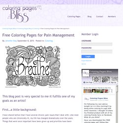Free Coloring Pages for Pain Management