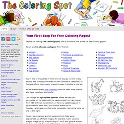 Free coloring pages | Coloring pages to print | Printable colouring sheets from The Coloring Spot