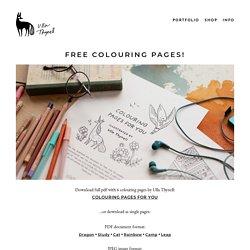 Coloriages: 6 pages à télécharger, par Ulla Thynell