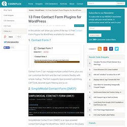 13 Free Contact Form Plugins for WordPress