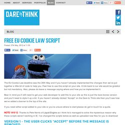 FREE EU Cookie Law Script