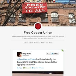 CU $.O.$. Cooper Union Student Action to Save Our School