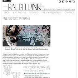FREE CORSET PATTERNS - Ralphpink.com