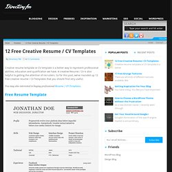 Free attention getting resume templates