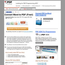 OnlinePDFConverter — CreatePDF &ConvertPDFto Word —Free!