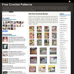 Get free Crochet Books ~ Free Crochet Patterns