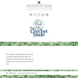 Free crochet pattern: Fabric Bowl – The Crochet Dude