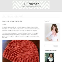Free Crochet Men's Hat Pattern