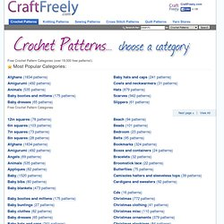 Free Crochet Patterns by Category - 19,000+ Free Crochet Patterns plus Knit Patterns