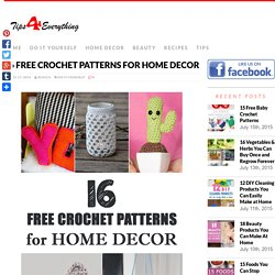 16 Free Crochet Patterns for Home Decor