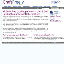 Free Crochet Patterns (19,000+) and over 9,000 Free Knitting Patterns