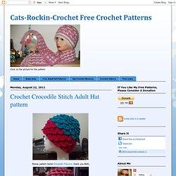 Crochet Crocodile Stitch Adult Hat pattern
