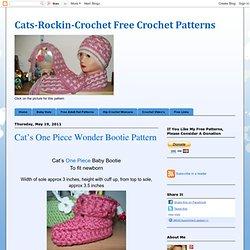 Cat's One Piece Wonder Bootie Pattern