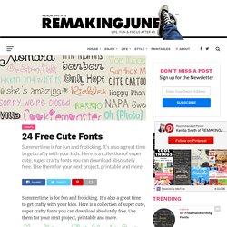 24 Free Cute Fonts