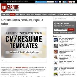 Free CV / Resume PSD Templates