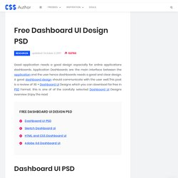 30 +Free Dashboard UI Design PSD- Css Author