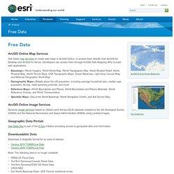Online Data - ESRI