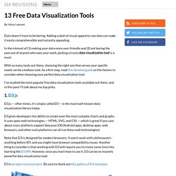 13 Free Data Visualization Tools