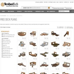 Free Deck Plans - TimberTech
