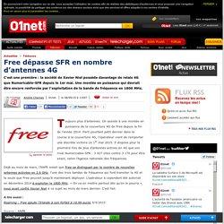 Free dépasse SFR en nombre d'antennes 4G