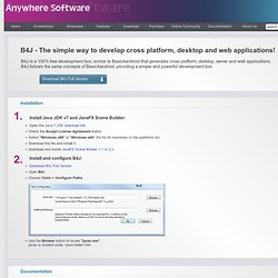 B4J - Free development tool for Windows, Mac and Linux