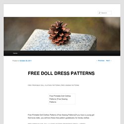 FREE DOLL DRESS PATTERNS