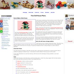 Free Doll House Plans free PDF download