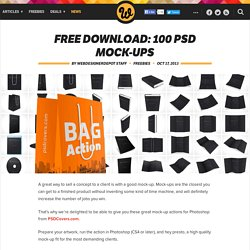 Free download: 100 PSD mock-ups