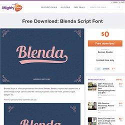 Free Download: Blenda Script Font
