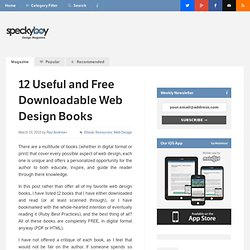 12 Useful and Free Downloadable Web Design Books