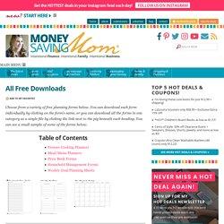 All Free Downloads : Money Saving Mom®