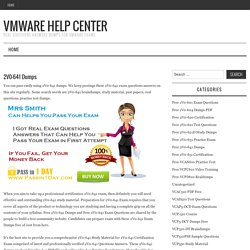 Free 2V0-641 Dumps – VMware Help Center