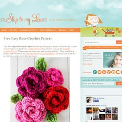 Free Easy Rose Crochet Pattern