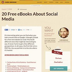 20 Free eBooks About Social Media | chrisbrogan.com