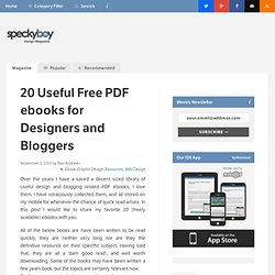 20 Useful Free PDF ebooks for Designers and Bloggers :Speckyboy Design Magazine