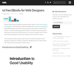 10 Free EBooks for Web Designers | Freebies