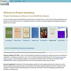 Welcome to Project Gutenberg