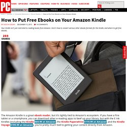 How to Put Free Ebooks on Your Amazon Kindle