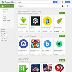 Enseignement - Applications sur l'AndroidMarket