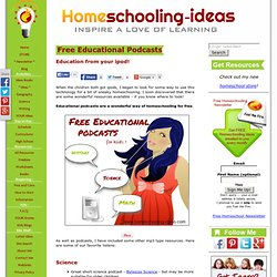 Free Educational Podcasts