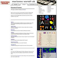 Free Educational Software, Marianne Wartoft AB
