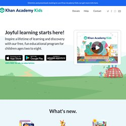 Free, fun educational app for young kids