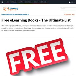 Free eLearning Books - The Ultimate List