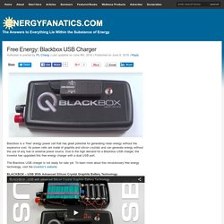 Free Energy: Blackbox USB Charger