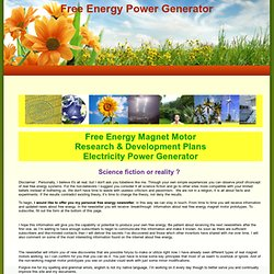 Free Energy Power Generator