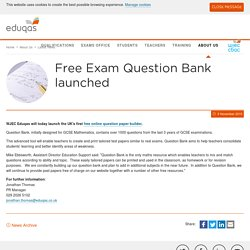 Free Exam Question Bank launched