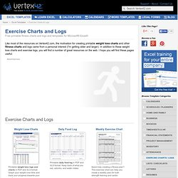 Free Exercise Charts and Logs | Weight Loss Charts