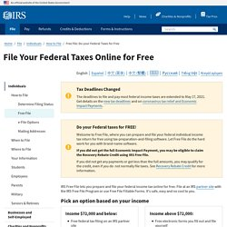 Free File: Do Your Federal Taxes for Free