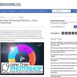 New Free PSD Files 2014