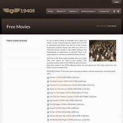 Free Film Noir Movies - 1940's Classic Film